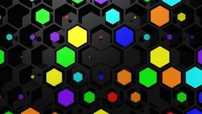 Υπόβαθρο hexagons φιλμ μικρού μήκους