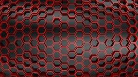 Υπόβαθρο hexagons απόθεμα βίντεο