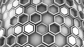 Υπόβαθρο hexagons ελεύθερη απεικόνιση δικαιώματος