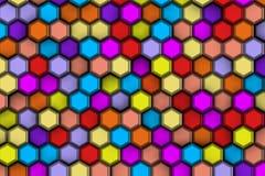 Υπόβαθρο hexagons colorist με την ανακούφιση και τις σκιές, Στοκ φωτογραφίες με δικαίωμα ελεύθερης χρήσης