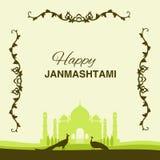 Υπόβαθρο janmashtami Krishna Στοκ Εικόνες