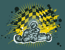 Υπόβαθρο Karting στοκ εικόνες με δικαίωμα ελεύθερης χρήσης
