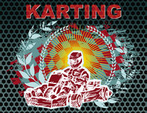 Υπόβαθρο Karting Στοκ φωτογραφία με δικαίωμα ελεύθερης χρήσης