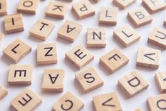 υπόβαθρο letterpress των ξύλινων φραγμών εκτύπωσης τύπων, τυχαίο lett στοκ φωτογραφία με δικαίωμα ελεύθερης χρήσης