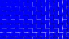 Υπόβαθρο Loopable του κτυπήματος των κεραμιδιών τρισδιάστατη γεωμετρική ζωτικότητα απόθεμα βίντεο