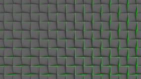 Υπόβαθρο Loopable του κτυπήματος των κεραμιδιών τρισδιάστατη γεωμετρική ζωτικότητα φιλμ μικρού μήκους