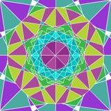 Υπόβαθρο Mandala γεωμετρίας Διανυσματική απεικόνιση