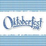 Υπόβαθρο Oktoberfest 2018 με το σχισμένο έγγραφο Στοκ Εικόνα