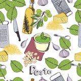 Υπόβαθρο Pesto Στοκ εικόνα με δικαίωμα ελεύθερης χρήσης