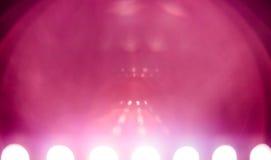 Υπόβαθρο sci-Fi με πολλή ρόδινη φλόγα φακών Στοκ Φωτογραφίες