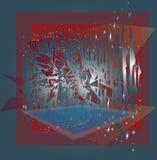 Υπόβαθρο screensaver με τις γεωμετρικές μορφές Στοκ φωτογραφία με δικαίωμα ελεύθερης χρήσης