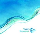 Υπόβαθρο Watercolor με τα κύματα απεικόνιση αποθεμάτων