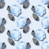 Υπόβαθρο Watercolor με τα μπλε λουλούδια 21 Στοκ Εικόνες