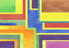 Υπόβαθρο Watercolor που συνδυάζεται με τα ομοιόμορφα τετράγωνα τόνου απεικόνιση αποθεμάτων