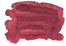 Υπόβαθρο Watercolor των καθιερωνόντων τη μόδα χρωμάτων του περσικού κοκκίνου με τα αιχμηρά σύνορα και τα διαζύγια Λεκέδες βουρτσώ στοκ εικόνα με δικαίωμα ελεύθερης χρήσης