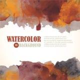 Υπόβαθρο watercolor φθινοπώρου Στοκ φωτογραφία με δικαίωμα ελεύθερης χρήσης