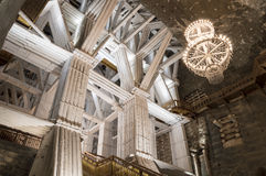 Υπόγεια αίθουσα στο αλατισμένο ορυχείο, Wieliczka Στοκ φωτογραφία με δικαίωμα ελεύθερης χρήσης