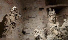 Υπόγεια αίθουσα των γλυπτών στο κάστρο vysehrad στην Πράγα στοκ εικόνες με δικαίωμα ελεύθερης χρήσης