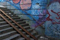 Υπόγεια σκαλοπάτια επάνω Στοκ εικόνες με δικαίωμα ελεύθερης χρήσης