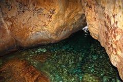 Υπόγεια σπηλιά θάλασσας Στοκ Φωτογραφία