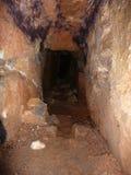 Υπόγεια τρύπα στην προηγούμενη τοποθεσία μεταλλείας Στοκ εικόνες με δικαίωμα ελεύθερης χρήσης