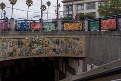 Υπόγειες εσωτερικές λεπτομέρειες σταθμών στο Σαν Φρανσίσκο Στοκ εικόνες με δικαίωμα ελεύθερης χρήσης