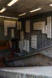 Υπόγειες εσωτερικές λεπτομέρειες σταθμών στο Σαν Φρανσίσκο Στοκ εικόνα με δικαίωμα ελεύθερης χρήσης