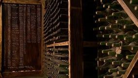 Υπόγειος θάλαμος κρασιού απόθεμα βίντεο