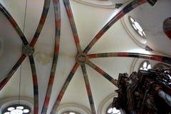 Υπόγειος θάλαμος μέσα στην εκκλησία του μεσαιωνικού μοναστηριού Carta κοντά στο Sibiu, Transilvania Στοκ εικόνες με δικαίωμα ελεύθερης χρήσης