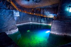 Υπόγειος 13ος αιώνας αλατισμένου ορυχείου Wieliczka, ένα από τα παγκόσμια ` s παλαιότερα αλατισμένα ορυχεία, κοντά στην Κρακοβία, Στοκ εικόνα με δικαίωμα ελεύθερης χρήσης