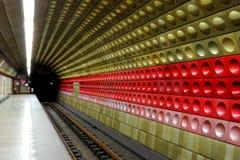 Υπόγειος σταθμός μετρό της Πράγας Στοκ Εικόνες