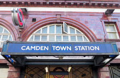 Υπόγειος σταθμός της πόλης του Κάμντεν στο Λονδίνο Στοκ φωτογραφία με δικαίωμα ελεύθερης χρήσης