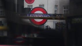 Υπόγειος σταθμός του Λονδίνου απόθεμα βίντεο