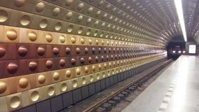υπόγειος σταθμός τρένου Στοκ εικόνα με δικαίωμα ελεύθερης χρήσης