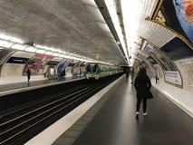 Υπόγειος σταθμός τραίνων μετρό Στοκ Εικόνα