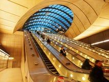 Υπόγειος σταθμός Canary Wharf, Λονδίνο Στοκ εικόνα με δικαίωμα ελεύθερης χρήσης