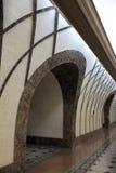 υπόγειος σταθμών αψίδων Στοκ φωτογραφία με δικαίωμα ελεύθερης χρήσης