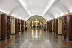 υπόγειος σταθμών της Μόσχας Στοκ Εικόνα