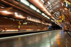 υπόγειος σταθμών του Παρισιού Στοκ Φωτογραφία
