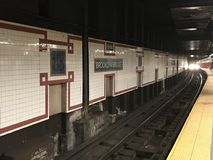 Υπόγειος της Νέας Υόρκης τραίνων Στοκ Φωτογραφία