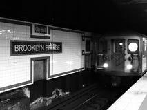 Υπόγειος της Νέας Υόρκης τραίνων Στοκ εικόνα με δικαίωμα ελεύθερης χρήσης
