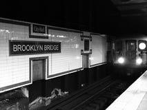 Υπόγειος της Νέας Υόρκης τραίνων Στοκ Εικόνα