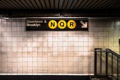 Υπόγειος NYC Στοκ εικόνα με δικαίωμα ελεύθερης χρήσης