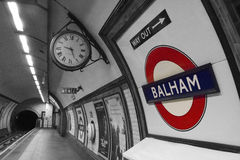 Υπόγειο μετρό Balham Στοκ εικόνες με δικαίωμα ελεύθερης χρήσης