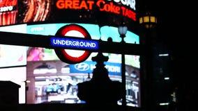 Υπόγειο σημάδι σωλήνων του Λονδίνου απόθεμα βίντεο