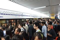 Υπόγειο τρένο γραμμών μετρό στο chengdu Στοκ εικόνα με δικαίωμα ελεύθερης χρήσης