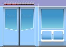 Υπόγειο τρένο εσωτερικός ελεύθερη απεικόνιση δικαιώματος