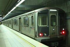υπόγειο τρένο μετρό γραμμών Στοκ εικόνες με δικαίωμα ελεύθερης χρήσης