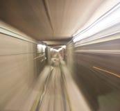 Υπόγειο τρένο στη σήραγγα Στοκ φωτογραφίες με δικαίωμα ελεύθερης χρήσης