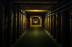 Υπόγειο tunel - αλατισμένο ορυχείο Wieliczka Στοκ Εικόνα